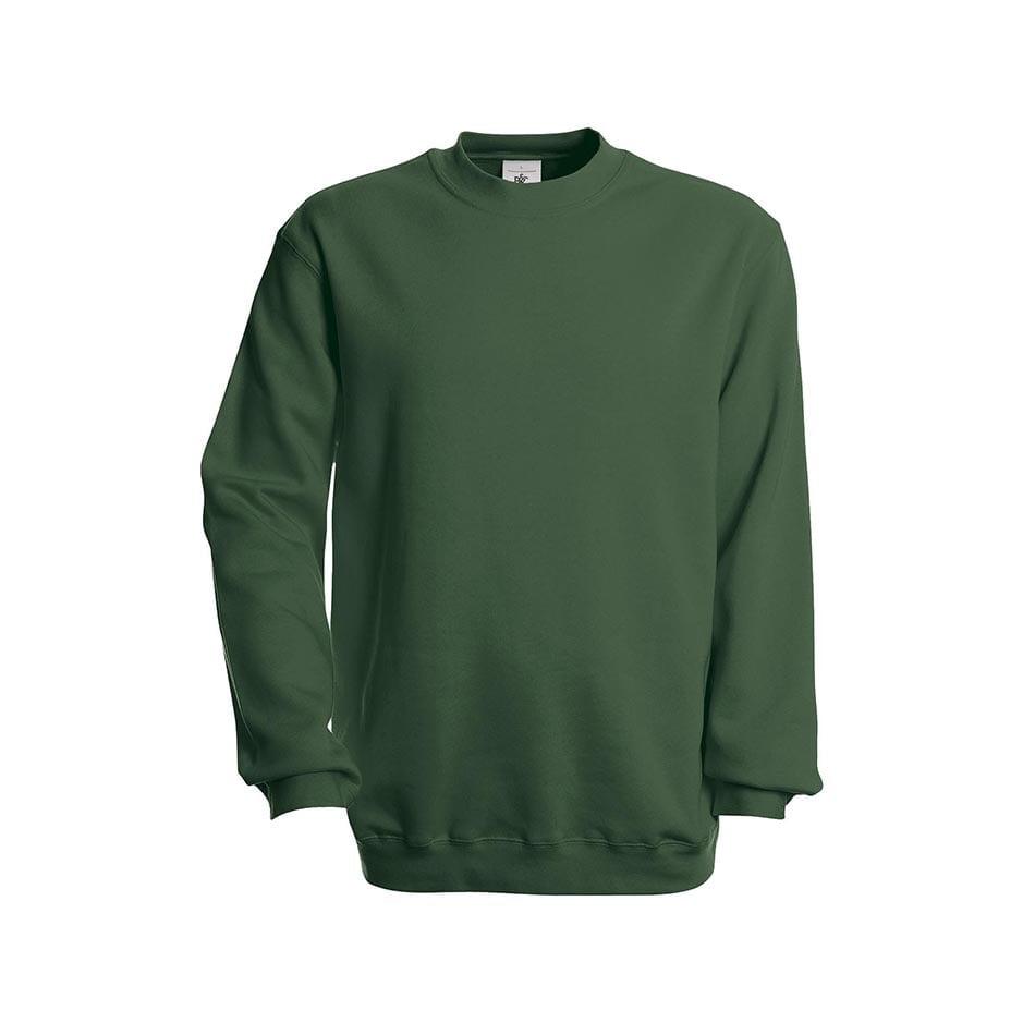 Bluzy - Bluza Crewneck Set In - B&C WU600 - Bottle Green - RAVEN - koszulki reklamowe z nadrukiem, odzież reklamowa i gastronomiczna