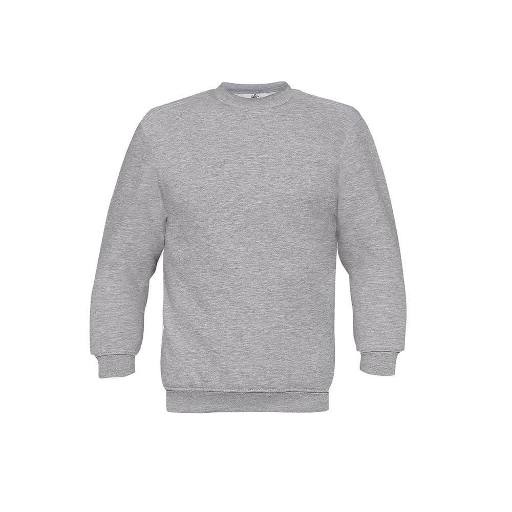 Bluzy - Bluza Crewneck Set In - B&C WU600 - Heather Grey - RAVEN - koszulki reklamowe z nadrukiem, odzież reklamowa i gastronomiczna