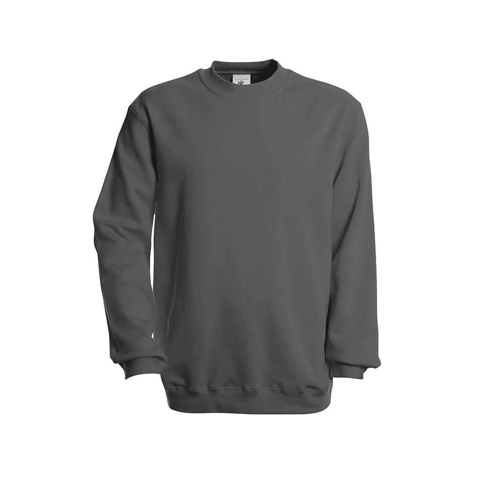 Bluzy - Bluza Crewneck Set In - B&C WU600 - Steel Grey (Solid) - RAVEN - koszulki reklamowe z nadrukiem, odzież reklamowa i gastronomiczna