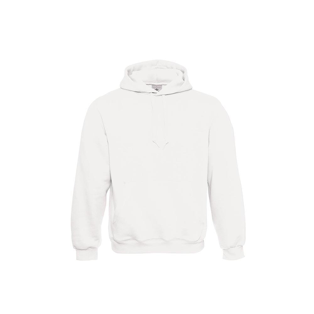 Bluzy - Klasyczna bluza Hooded - B&C WU620 - White - RAVEN - koszulki reklamowe z nadrukiem, odzież reklamowa i gastronomiczna