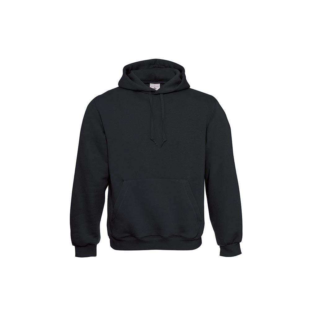 Bluzy - Klasyczna bluza Hooded - B&C WU620 - Black - RAVEN - koszulki reklamowe z nadrukiem, odzież reklamowa i gastronomiczna