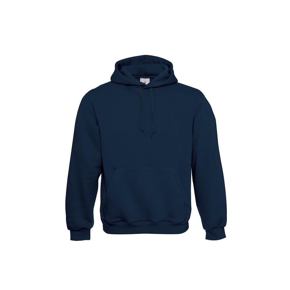 Bluzy - Klasyczna bluza Hooded - B&C WU620 - Navy - RAVEN - koszulki reklamowe z nadrukiem, odzież reklamowa i gastronomiczna