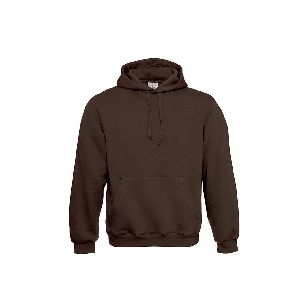 Bluzy - Klasyczna bluza Hooded - B&C WU620 - Brown - RAVEN - koszulki reklamowe z nadrukiem, odzież reklamowa i gastronomiczna