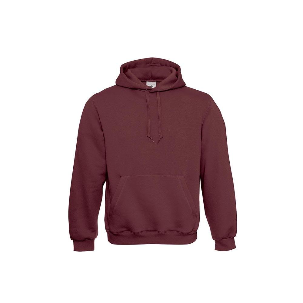 Bluzy - Klasyczna bluza Hooded - B&C WU620 - Burgundy - RAVEN - koszulki reklamowe z nadrukiem, odzież reklamowa i gastronomiczna