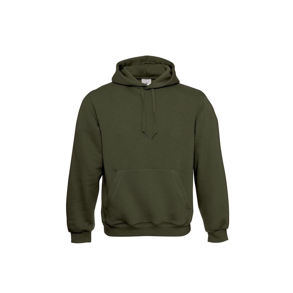 Bluzy - Klasyczna bluza Hooded - B&C WU620 - Khaki - RAVEN - koszulki reklamowe z nadrukiem, odzież reklamowa i gastronomiczna
