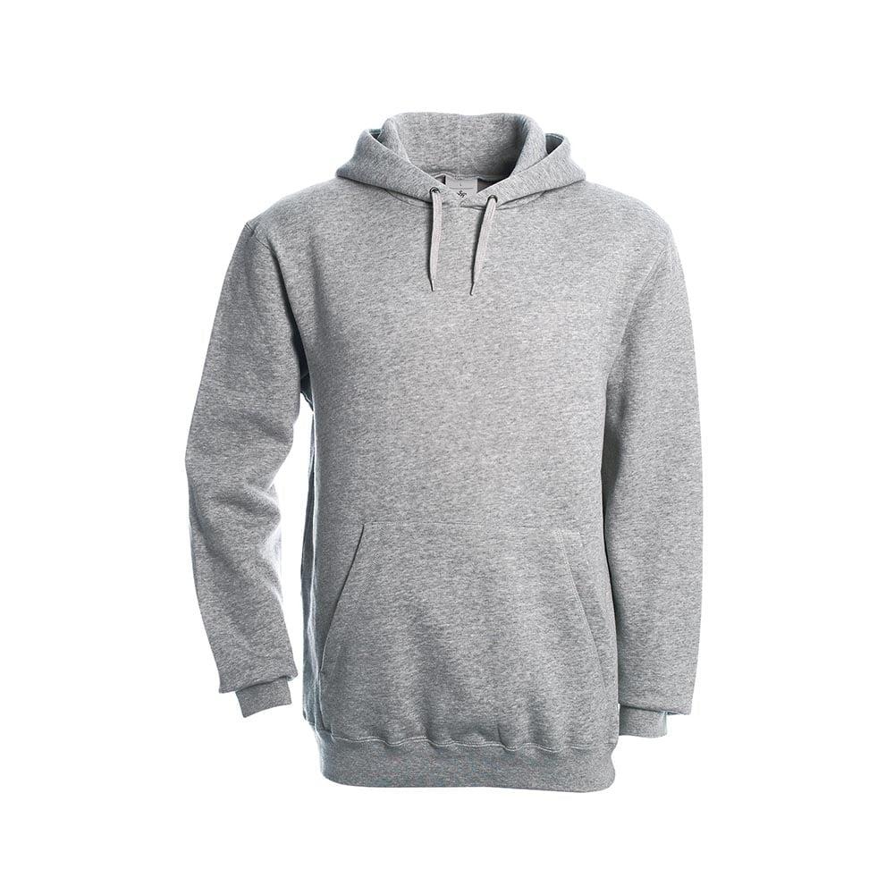 Bluzy - Klasyczna bluza Hooded - B&C WU620 - Heather Grey - RAVEN - koszulki reklamowe z nadrukiem, odzież reklamowa i gastronomiczna