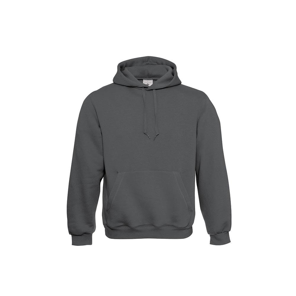 Bluzy - Klasyczna bluza Hooded - B&C WU620 - Steel Grey (Solid) - RAVEN - koszulki reklamowe z nadrukiem, odzież reklamowa i gastronomiczna