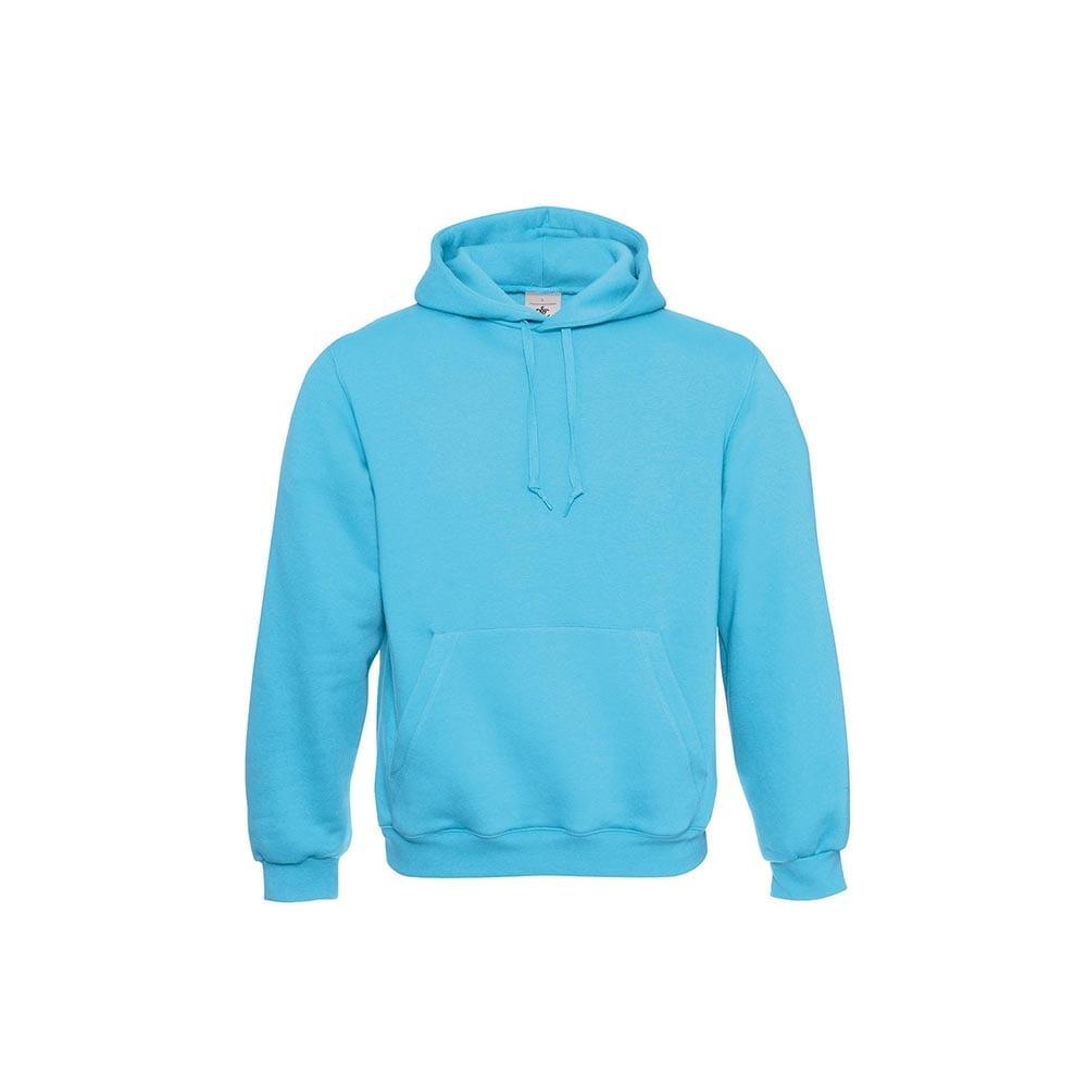 Bluzy - Klasyczna bluza Hooded - B&C WU620 - Real Turquoise - RAVEN - koszulki reklamowe z nadrukiem, odzież reklamowa i gastronomiczna