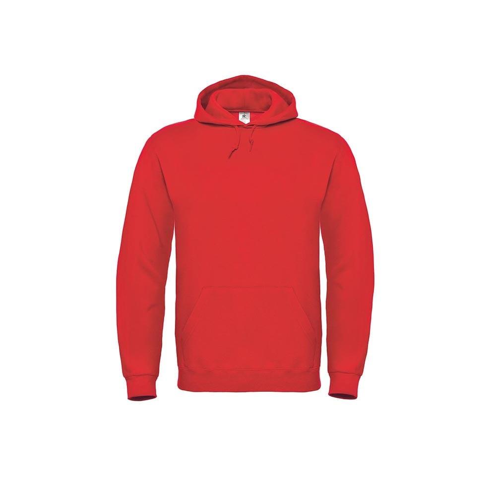 Bluzy - Bluza z kapturem ID.003 - B&C WUI21 - Red - RAVEN - koszulki reklamowe z nadrukiem, odzież reklamowa i gastronomiczna