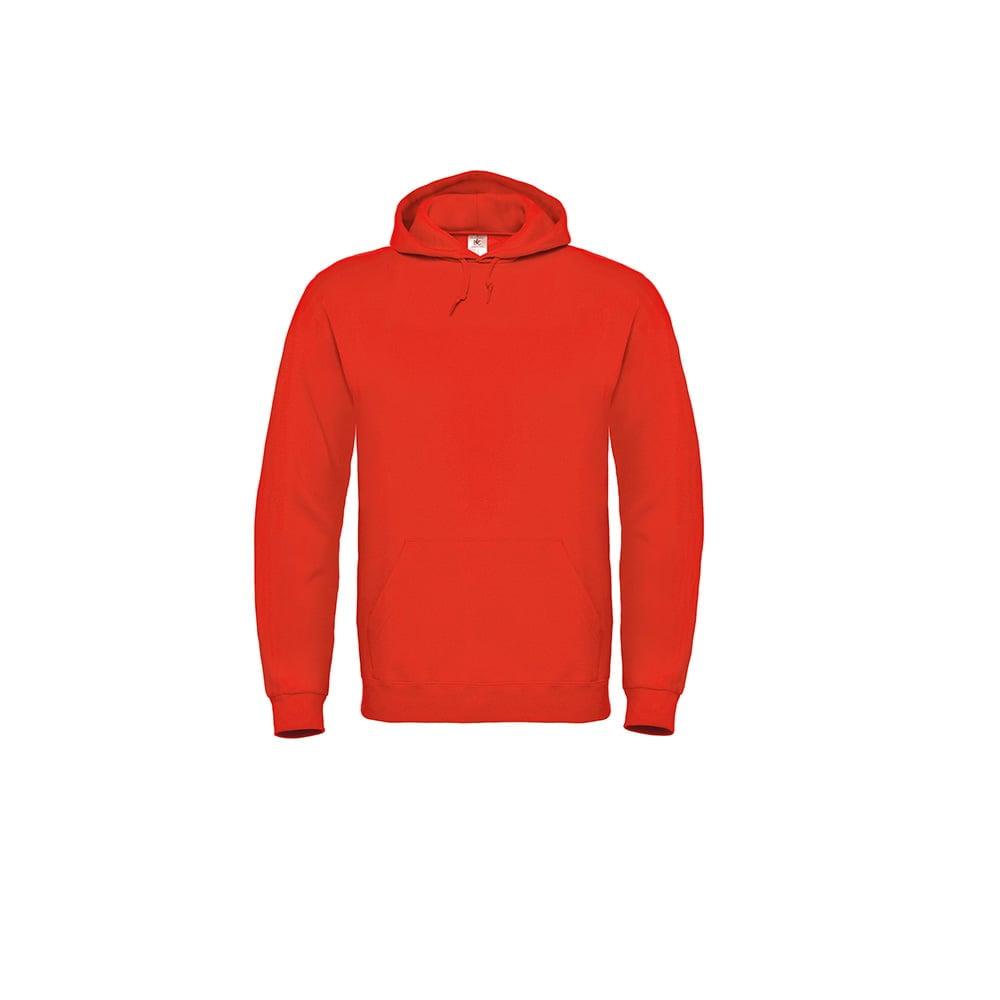 Bluzy - Bluza z kapturem ID.003 - B&C WUI21 - Fire Red - RAVEN - koszulki reklamowe z nadrukiem, odzież reklamowa i gastronomiczna