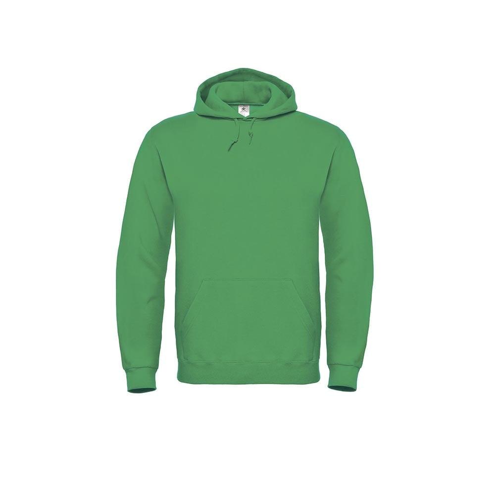Bluzy - Bluza z kapturem ID.003 - B&C WUI21 - Kelly Green  - RAVEN - koszulki reklamowe z nadrukiem, odzież reklamowa i gastronomiczna