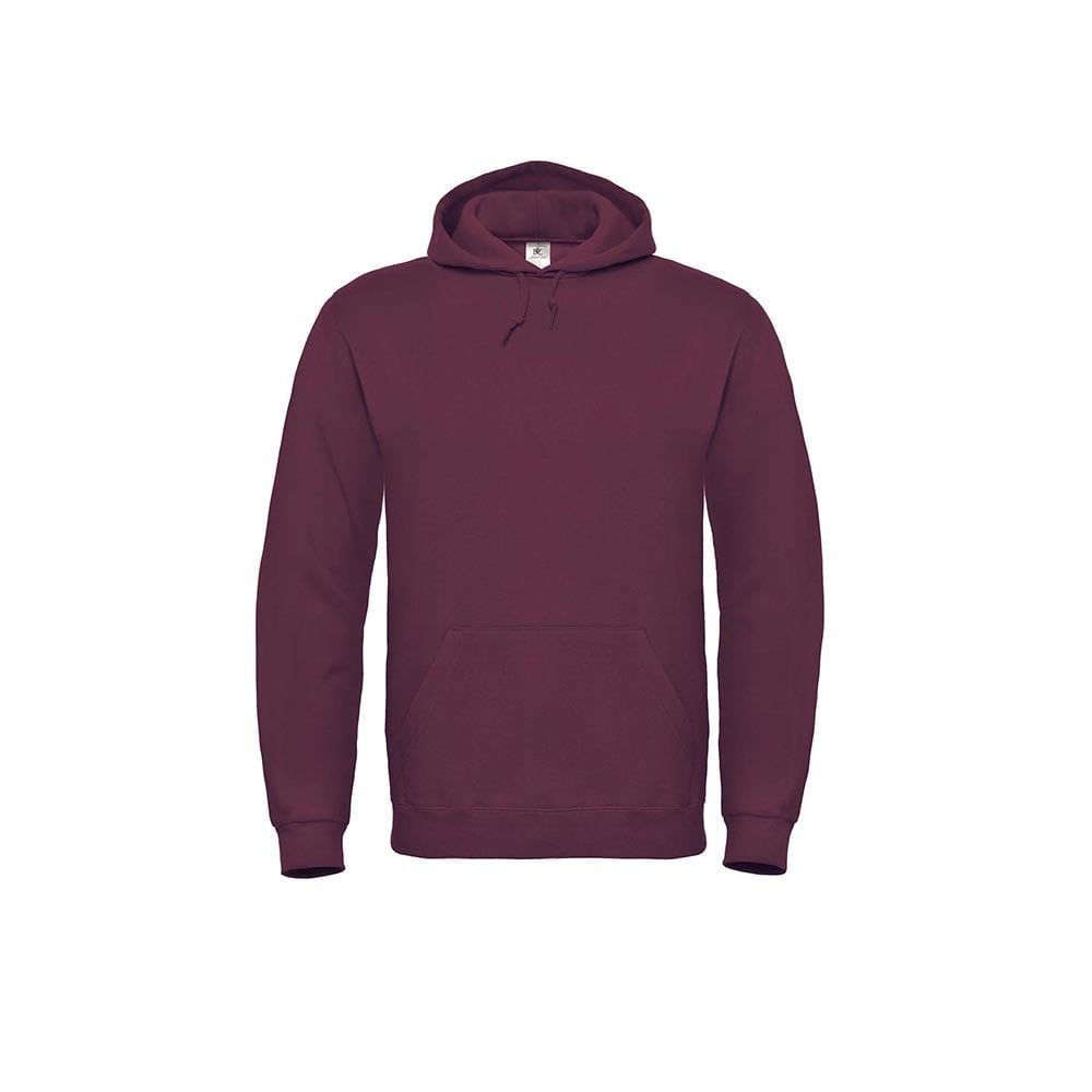 Bluzy - Bluza z kapturem ID.003 - B&C WUI21 - Wine - RAVEN - koszulki reklamowe z nadrukiem, odzież reklamowa i gastronomiczna