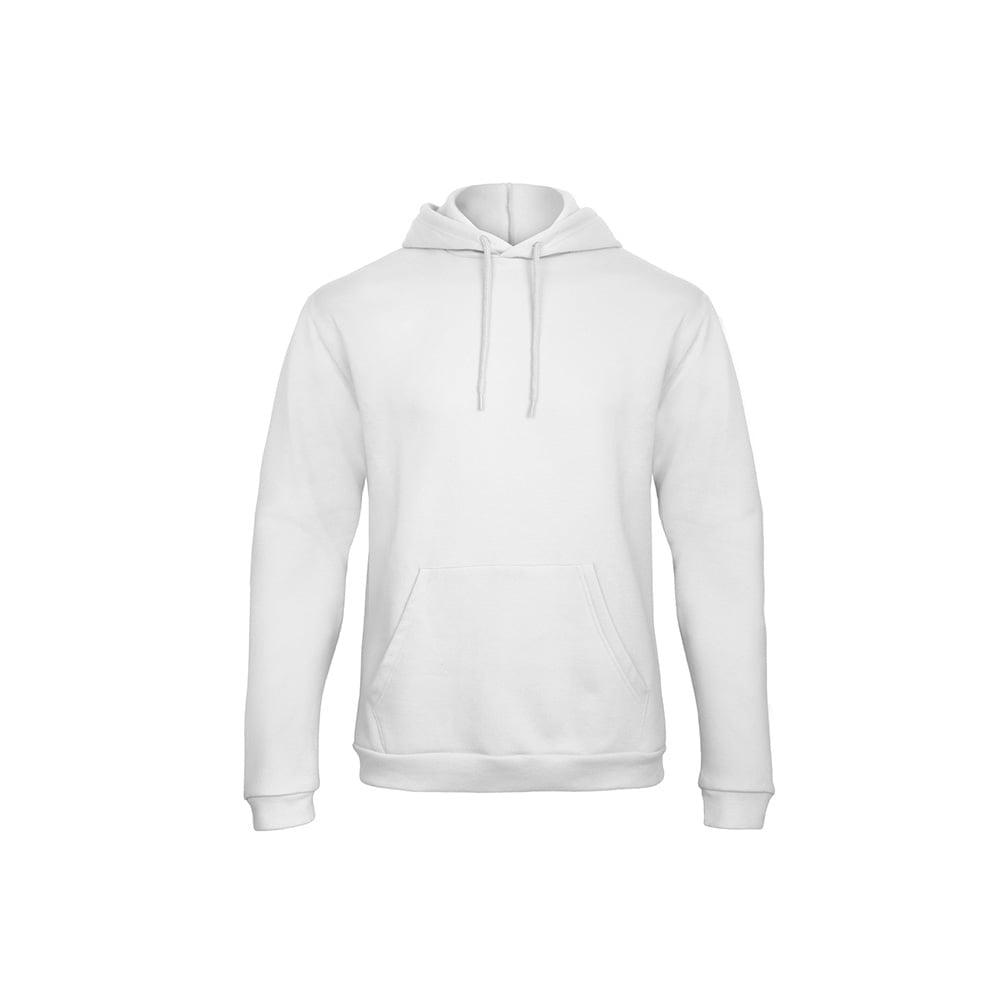 Bluzy - Bluza z kapturem ID.203 - B&C WUI24 - White - RAVEN - koszulki reklamowe z nadrukiem, odzież reklamowa i gastronomiczna