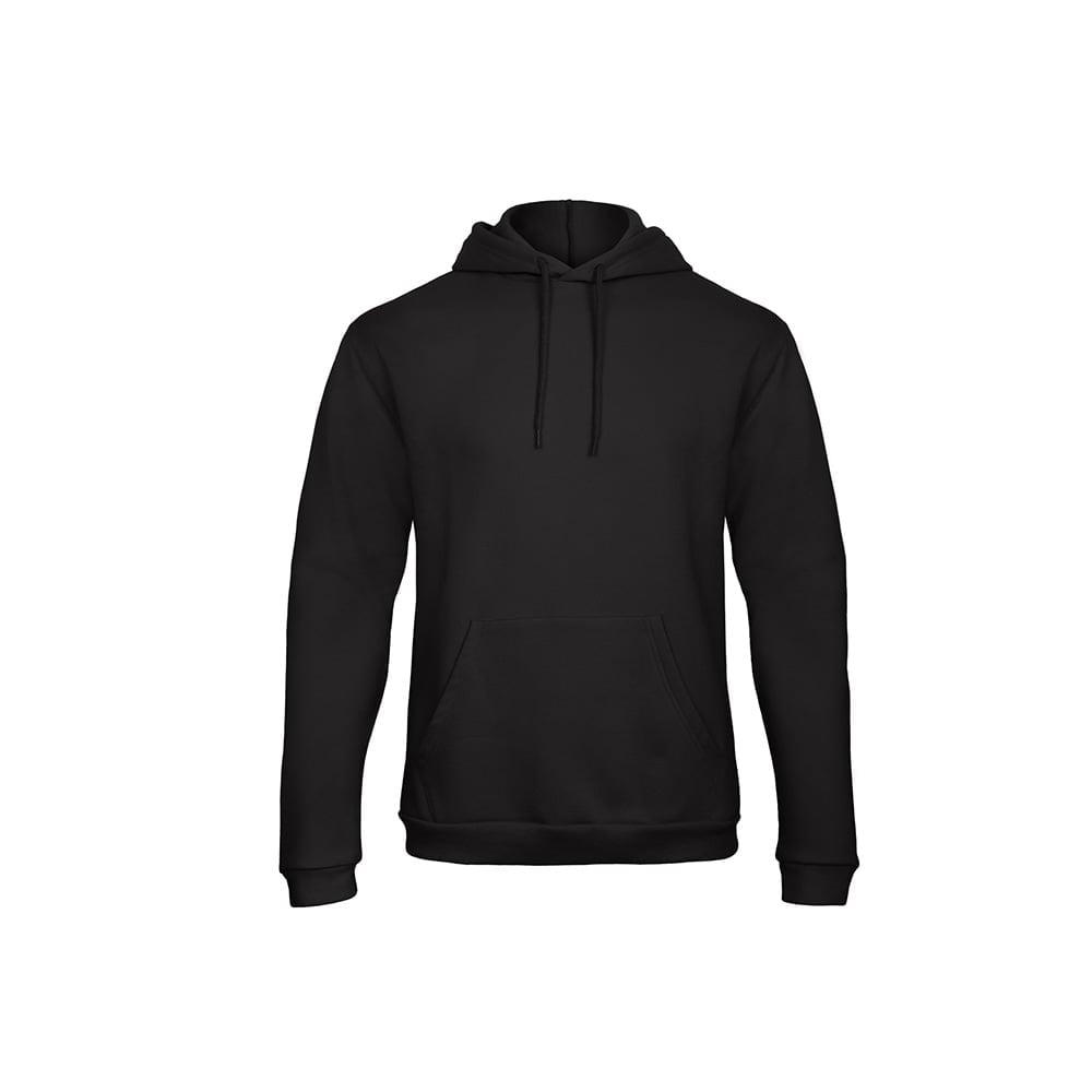 Bluzy - Bluza z kapturem ID.203 - B&C WUI24 - Black - RAVEN - koszulki reklamowe z nadrukiem, odzież reklamowa i gastronomiczna