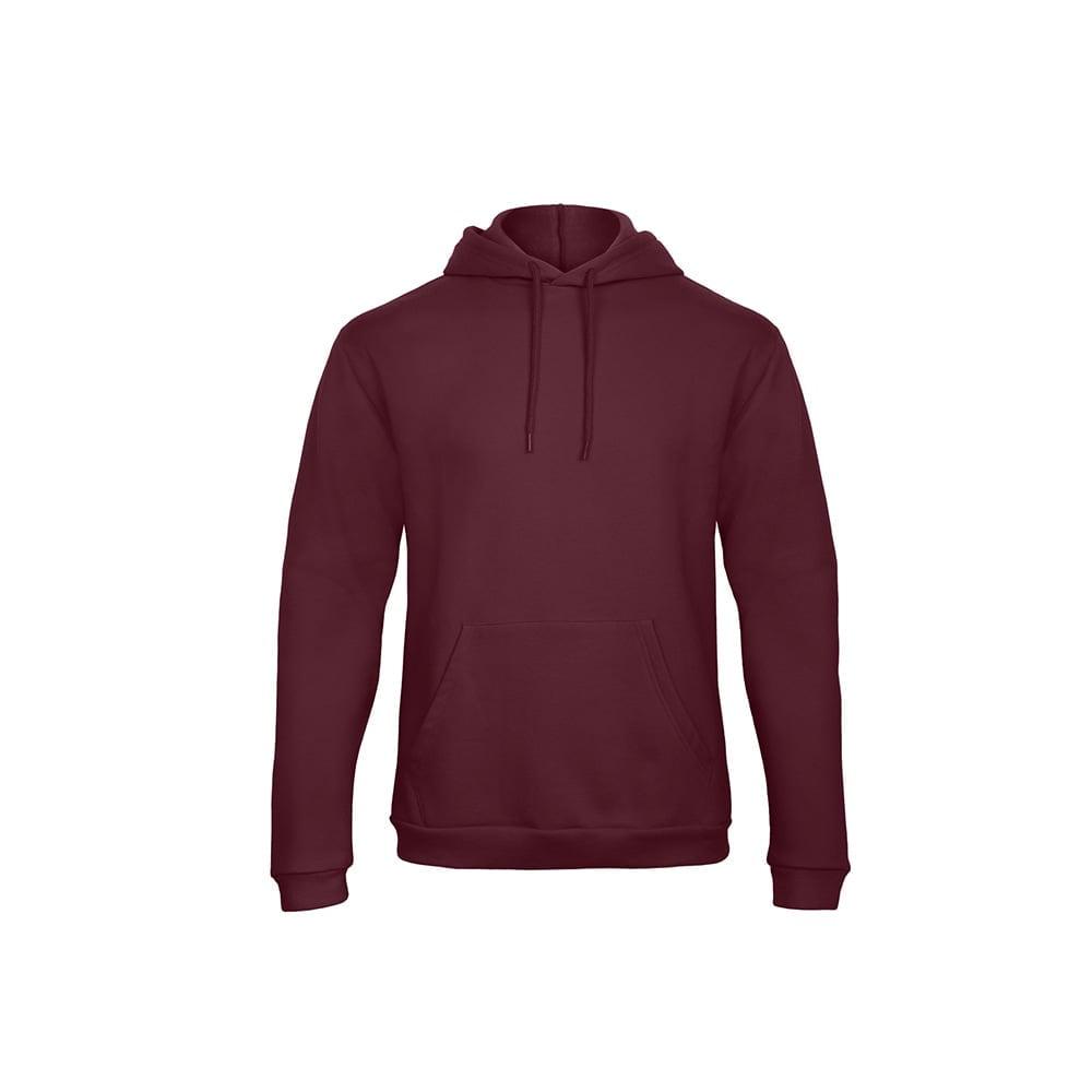 Bluzy - Bluza z kapturem ID.203 - B&C WUI24 - Burgundy - RAVEN - koszulki reklamowe z nadrukiem, odzież reklamowa i gastronomiczna