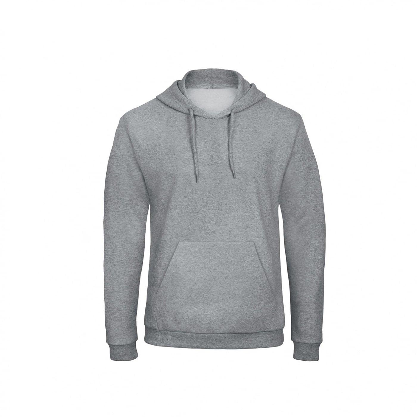 Bluzy - Bluza z kapturem ID.203 - B&C WUI24 - Heather Grey - RAVEN - koszulki reklamowe z nadrukiem, odzież reklamowa i gastronomiczna