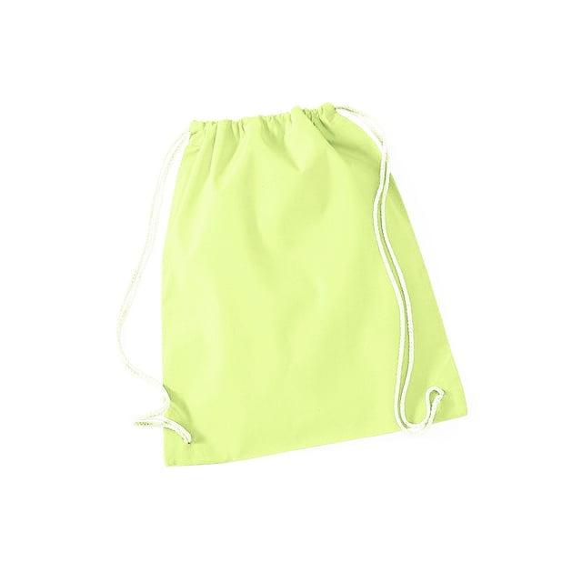 Torby i plecaki - Worek festiwalowy Cotton Gym - W110 - Pastel Lemon - RAVEN - koszulki reklamowe z nadrukiem, odzież reklamowa i gastronomiczna