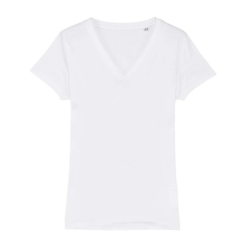 Koszulki T-Shirt - Damski T-shirt Stella Evoker - STTW023 - White - RAVEN - koszulki reklamowe z nadrukiem, odzież reklamowa i gastronomiczna