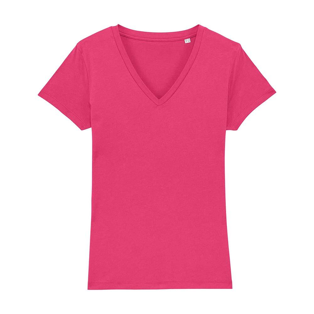 Koszulki T-Shirt - Damski T-shirt Stella Evoker - STTW023 - Raspberry - RAVEN - koszulki reklamowe z nadrukiem, odzież reklamowa i gastronomiczna