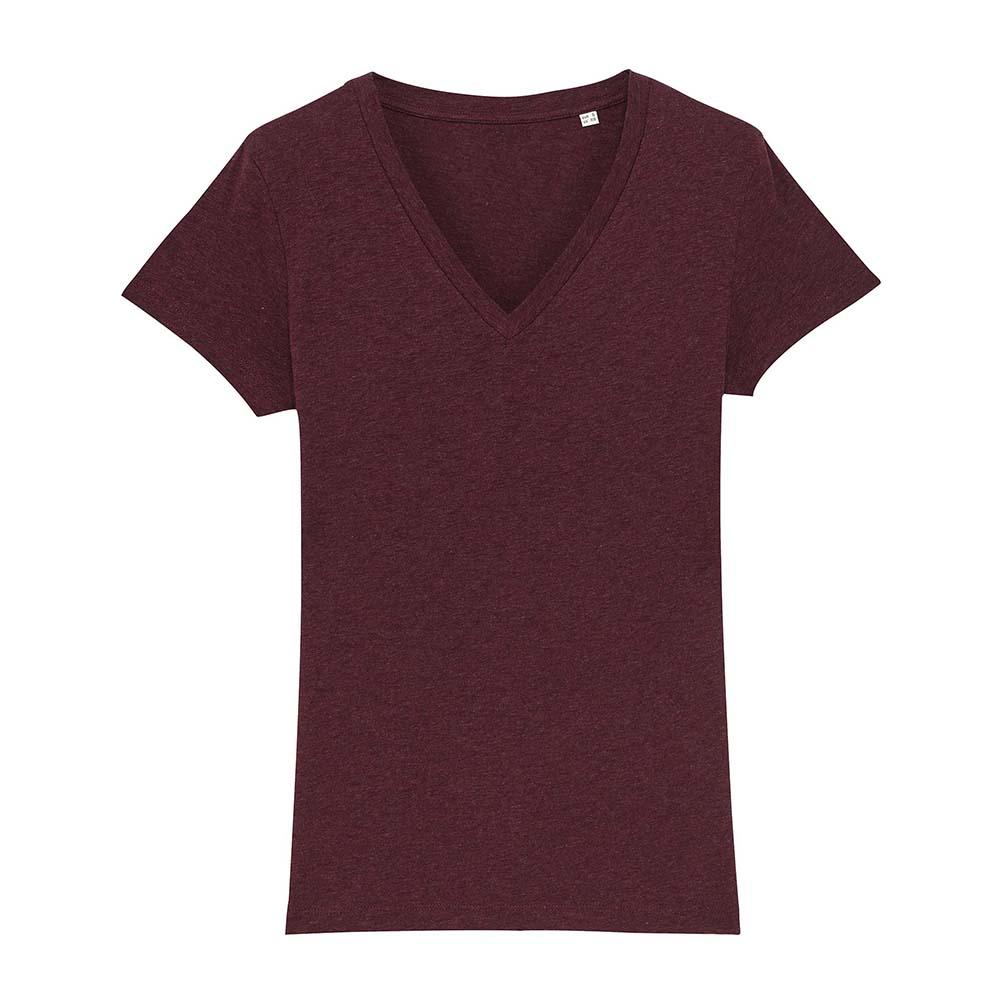 Koszulki T-Shirt - Damski T-shirt Stella Evoker - STTW023 - Heather Grape Red - RAVEN - koszulki reklamowe z nadrukiem, odzież reklamowa i gastronomiczna