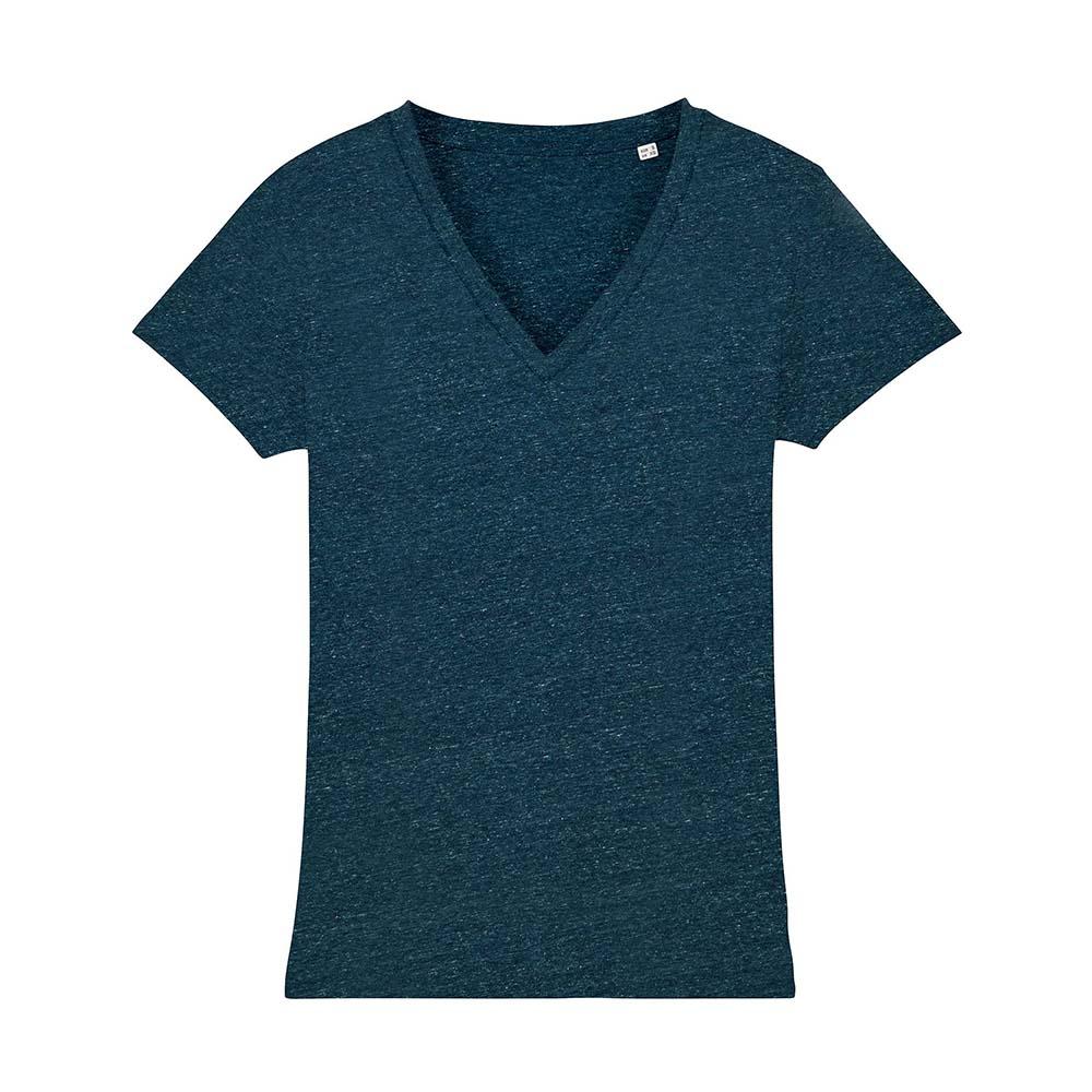 Koszulki T-Shirt - Damski T-shirt Stella Evoker - STTW023 - Dark Heather Denim - RAVEN - koszulki reklamowe z nadrukiem, odzież reklamowa i gastronomiczna