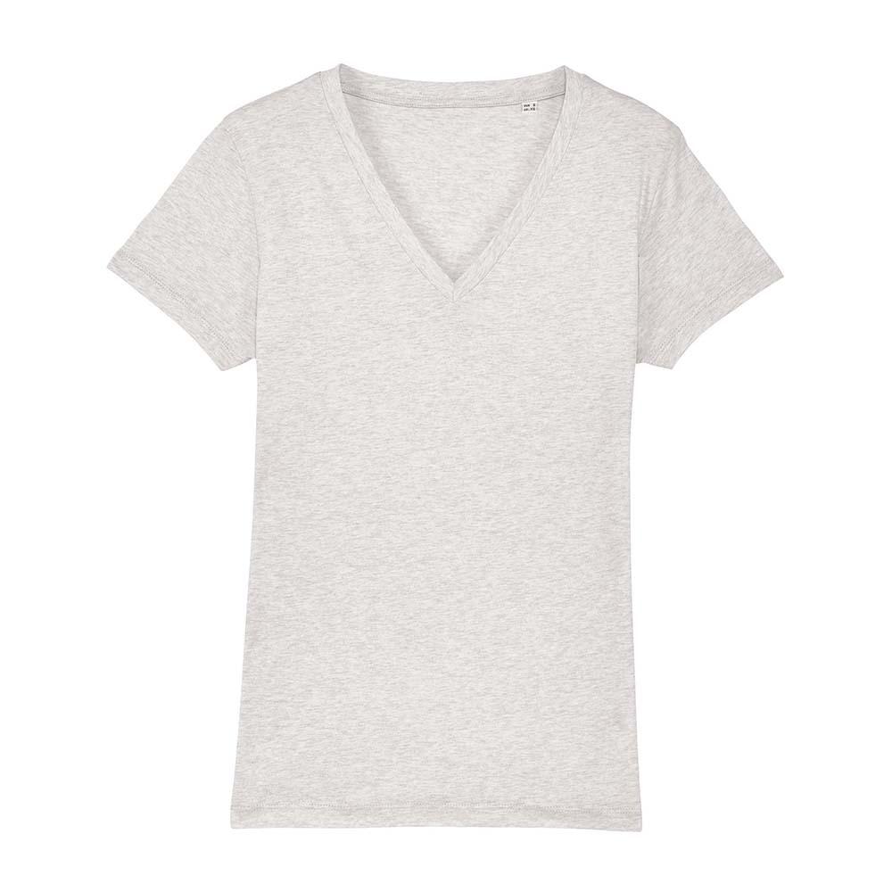 Koszulki T-Shirt - Damski T-shirt Stella Evoker - STTW023 - Cream Heather Grey - RAVEN - koszulki reklamowe z nadrukiem, odzież reklamowa i gastronomiczna