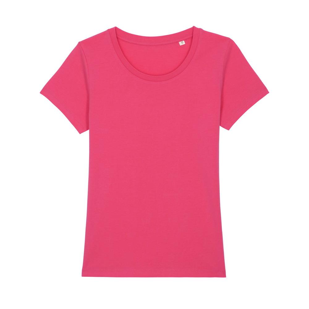Koszulki T-Shirt - Damski T-shirt Stella Expresser - STTW032 - Pink Punch - RAVEN - koszulki reklamowe z nadrukiem, odzież reklamowa i gastronomiczna