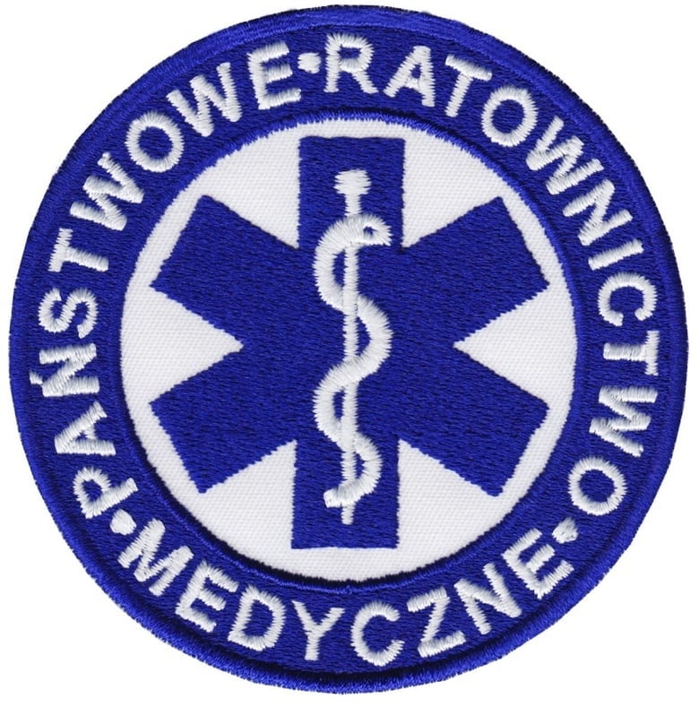 Państwowe Ratownictwo Medyczne -  logo haftowane - producent RAVEN