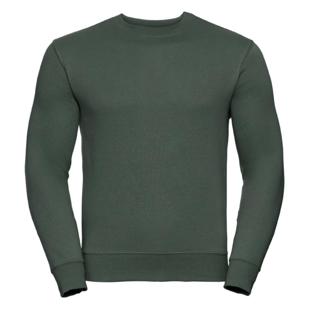 Bluzy - Bluza Crewneck Authentic - Russell R-262M-0 - Bottle Green - RAVEN - koszulki reklamowe z nadrukiem, odzież reklamowa i gastronomiczna