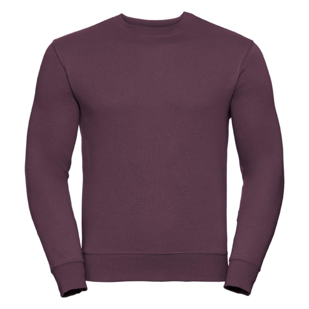 Bluzy - Bluza Crewneck Authentic - Russell R-262M-0 - Burgundy - RAVEN - koszulki reklamowe z nadrukiem, odzież reklamowa i gastronomiczna