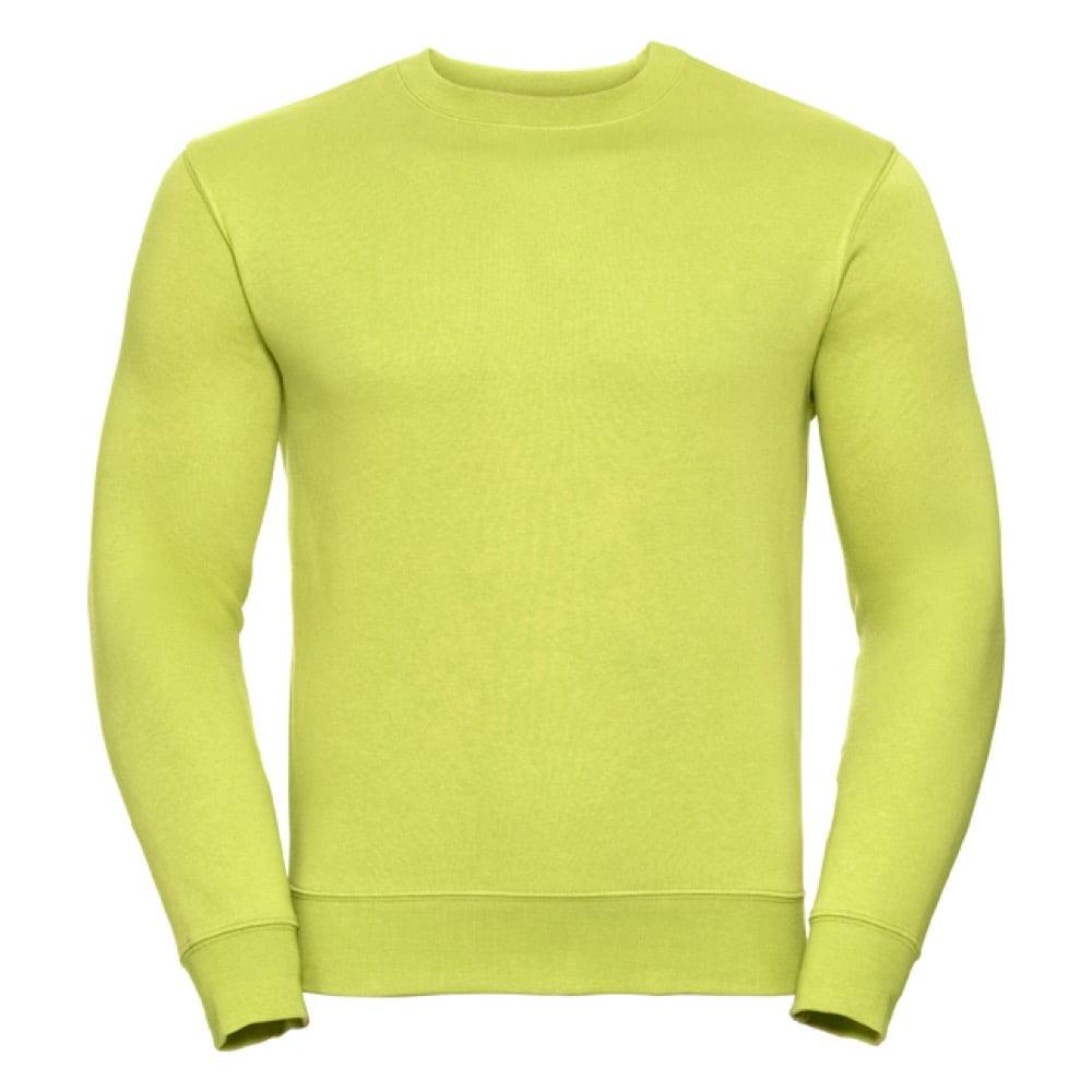Bluzy - Bluza Crewneck Authentic - Russell R-262M-0 - Lime - RAVEN - koszulki reklamowe z nadrukiem, odzież reklamowa i gastronomiczna