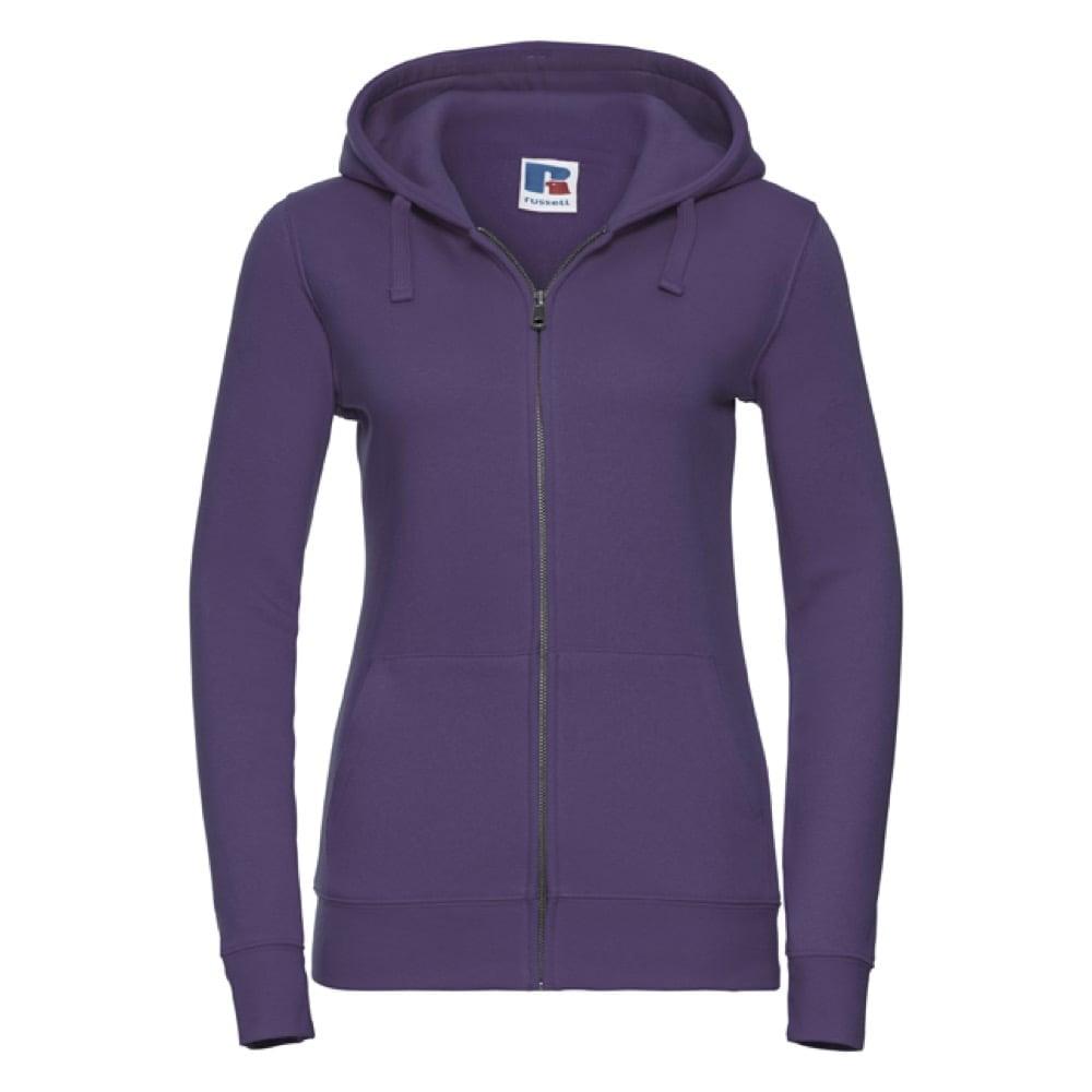 Bluzy - Damska bluza z kapturem Authentic - Russell R-266F-0 - Purple - RAVEN - koszulki reklamowe z nadrukiem, odzież reklamowa i gastronomiczna