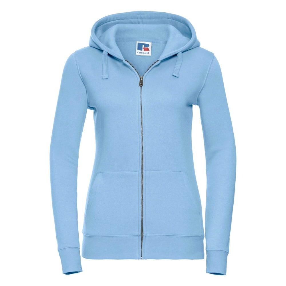 Bluzy - Damska bluza z kapturem Authentic - Russell R-266F-0 - Sky Blue - RAVEN - koszulki reklamowe z nadrukiem, odzież reklamowa i gastronomiczna