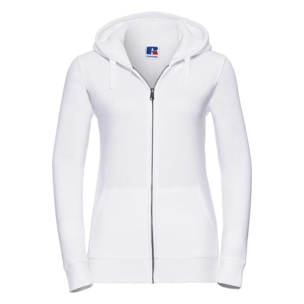 Bluzy - Damska bluza z kapturem Authentic - Russell R-266F-0 - White - RAVEN - koszulki reklamowe z nadrukiem, odzież reklamowa i gastronomiczna