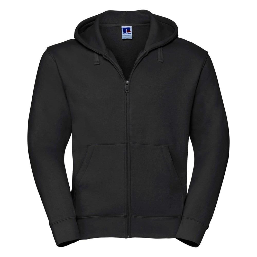 Bluzy - Męska bluza z kapturem Authentic - Russell R-266M-0 - Black - RAVEN - koszulki reklamowe z nadrukiem, odzież reklamowa i gastronomiczna