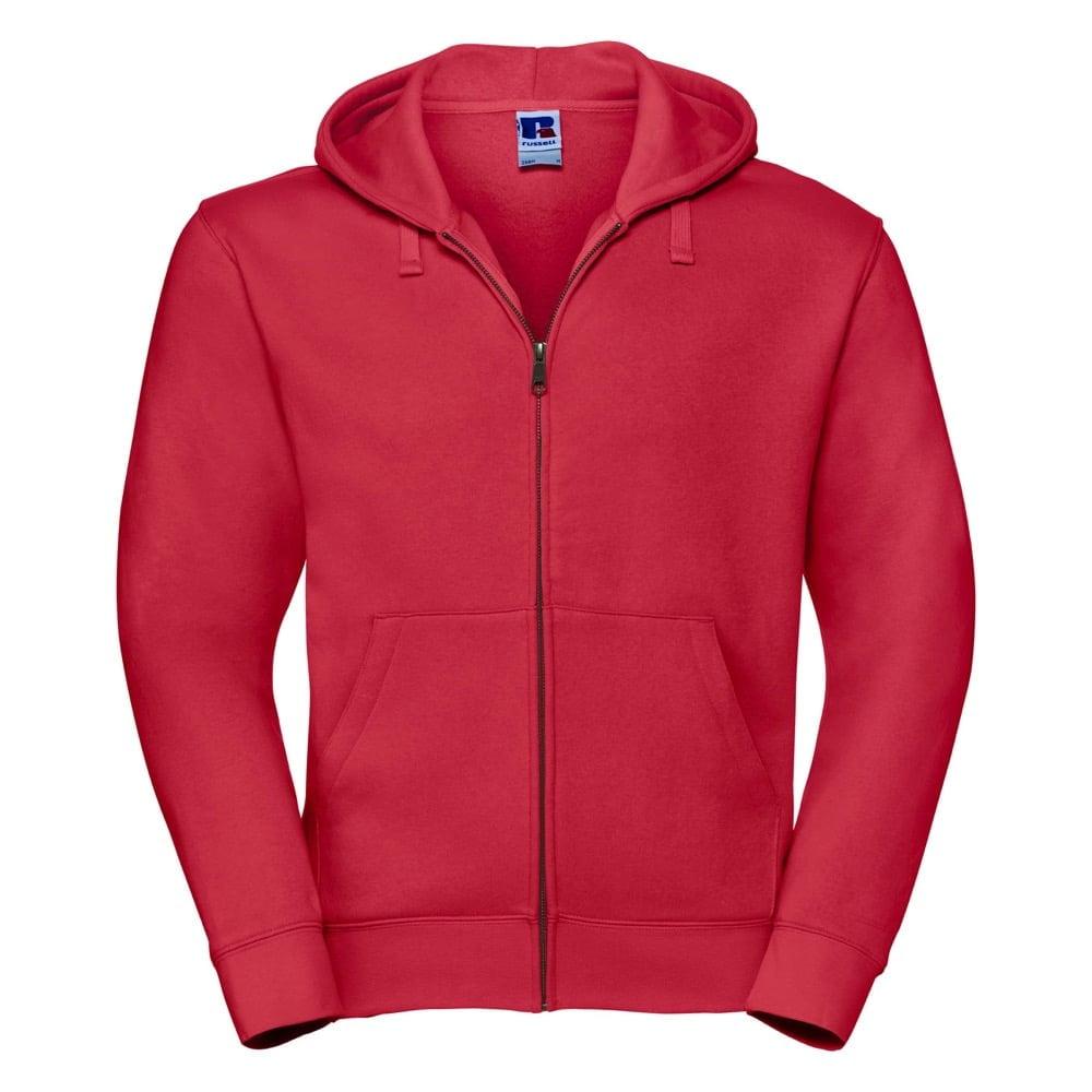 Bluzy - Męska bluza z kapturem Authentic - Russell R-266M-0 - Classic Red - RAVEN - koszulki reklamowe z nadrukiem, odzież reklamowa i gastronomiczna