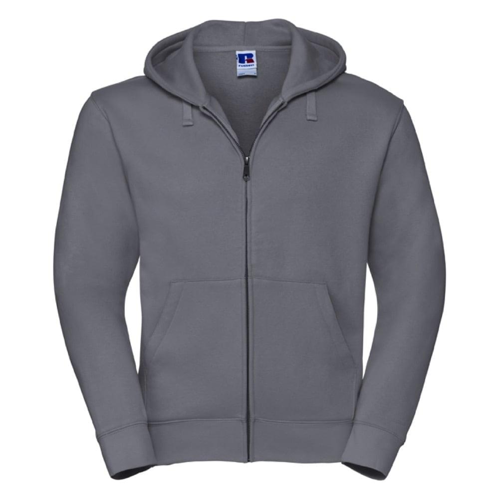 Bluzy - Męska bluza z kapturem Authentic - Russell R-266M-0 - Convoy Grey  - RAVEN - koszulki reklamowe z nadrukiem, odzież reklamowa i gastronomiczna