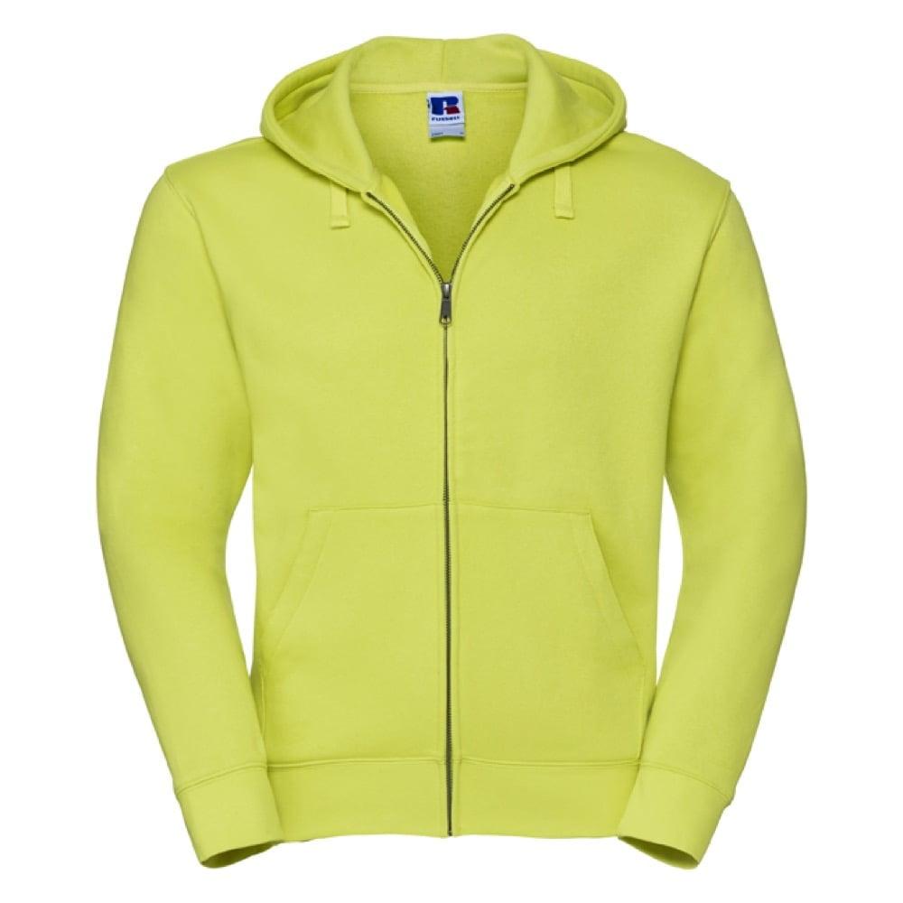 Bluzy - Męska bluza z kapturem Authentic - Russell R-266M-0 - Lime - RAVEN - koszulki reklamowe z nadrukiem, odzież reklamowa i gastronomiczna