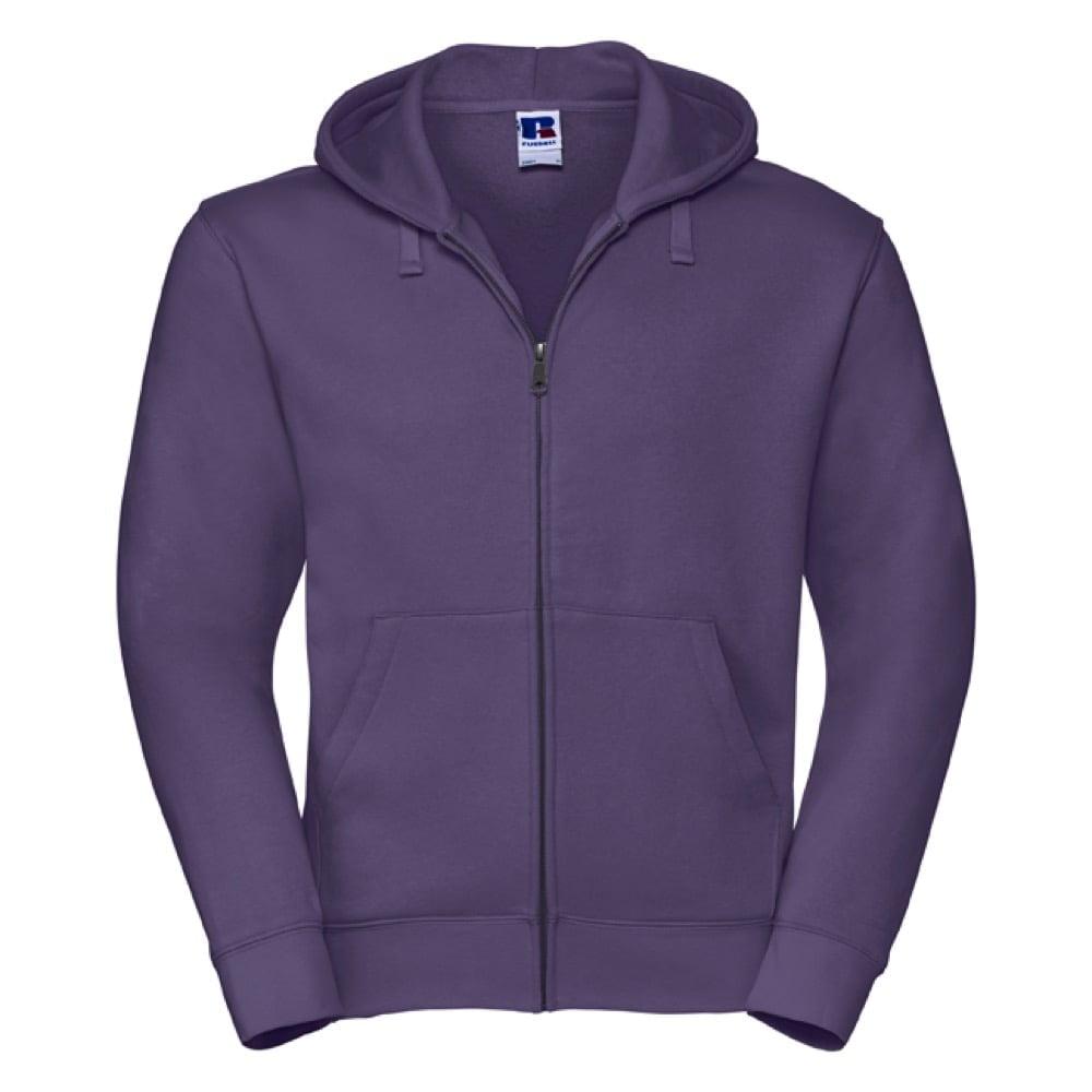 Bluzy - Męska bluza z kapturem Authentic - Russell R-266M-0 - Purple - RAVEN - koszulki reklamowe z nadrukiem, odzież reklamowa i gastronomiczna