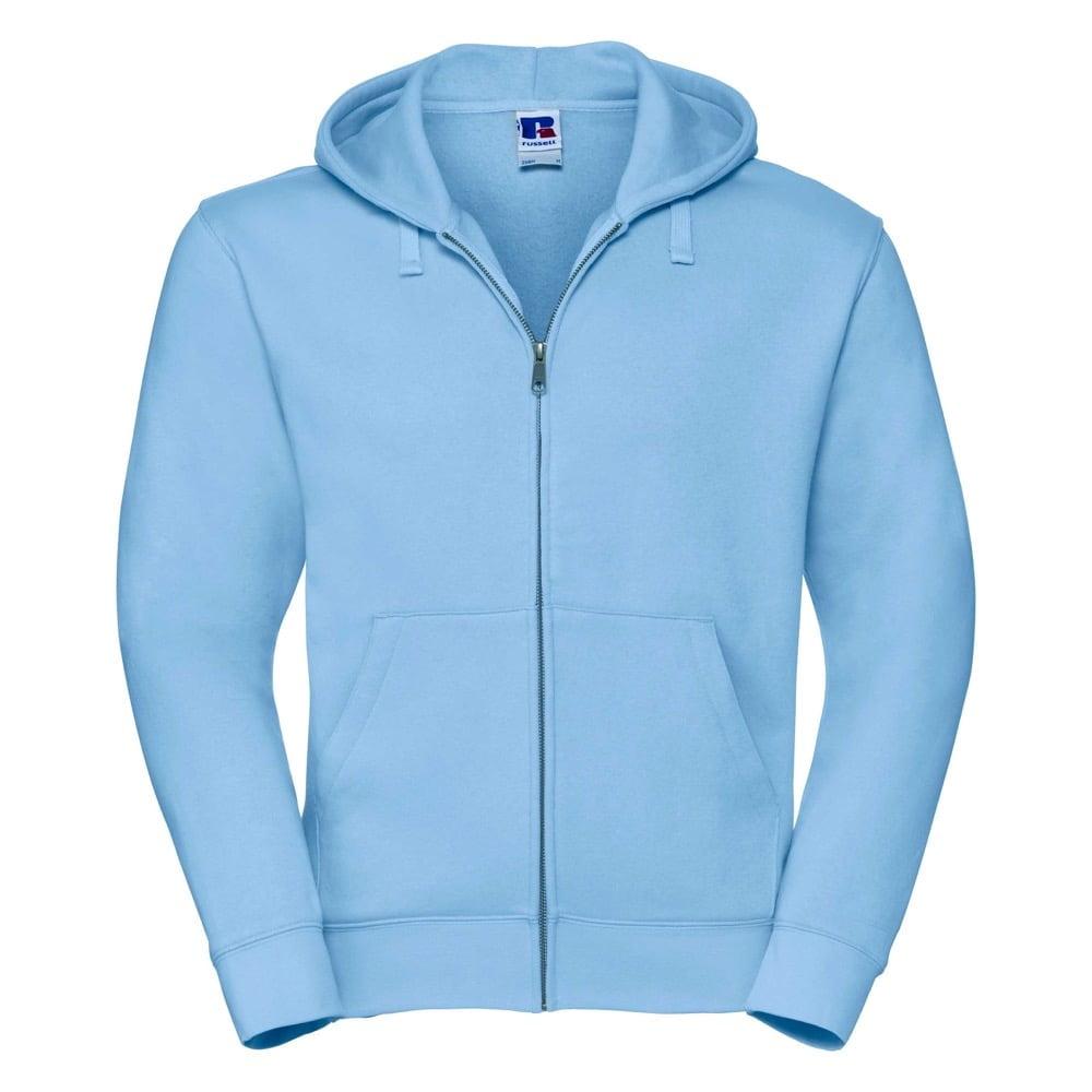 Bluzy - Męska bluza z kapturem Authentic - Russell R-266M-0 - Sky Blue - RAVEN - koszulki reklamowe z nadrukiem, odzież reklamowa i gastronomiczna