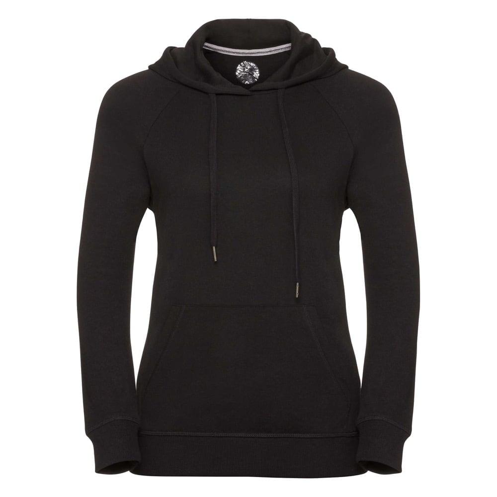 Bluzy - Damska bluza z kapturem HD -  R-281F-0 - Black - RAVEN - koszulki reklamowe z nadrukiem, odzież reklamowa i gastronomiczna