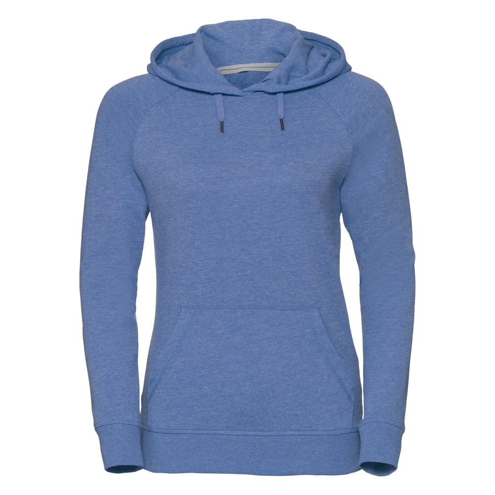 Bluzy - Damska bluza z kapturem HD -  R-281F-0 - Blue Marl - RAVEN - koszulki reklamowe z nadrukiem, odzież reklamowa i gastronomiczna
