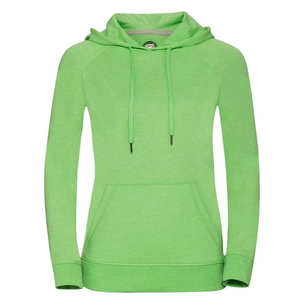 Bluzy - Damska bluza z kapturem HD -  R-281F-0 - Green Marl - RAVEN - koszulki reklamowe z nadrukiem, odzież reklamowa i gastronomiczna