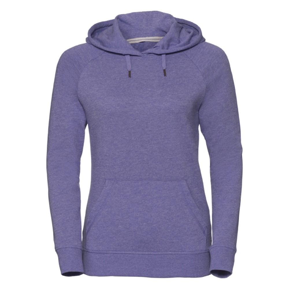 Bluzy - Damska bluza z kapturem HD -  R-281F-0 - Purprle Marl - RAVEN - koszulki reklamowe z nadrukiem, odzież reklamowa i gastronomiczna