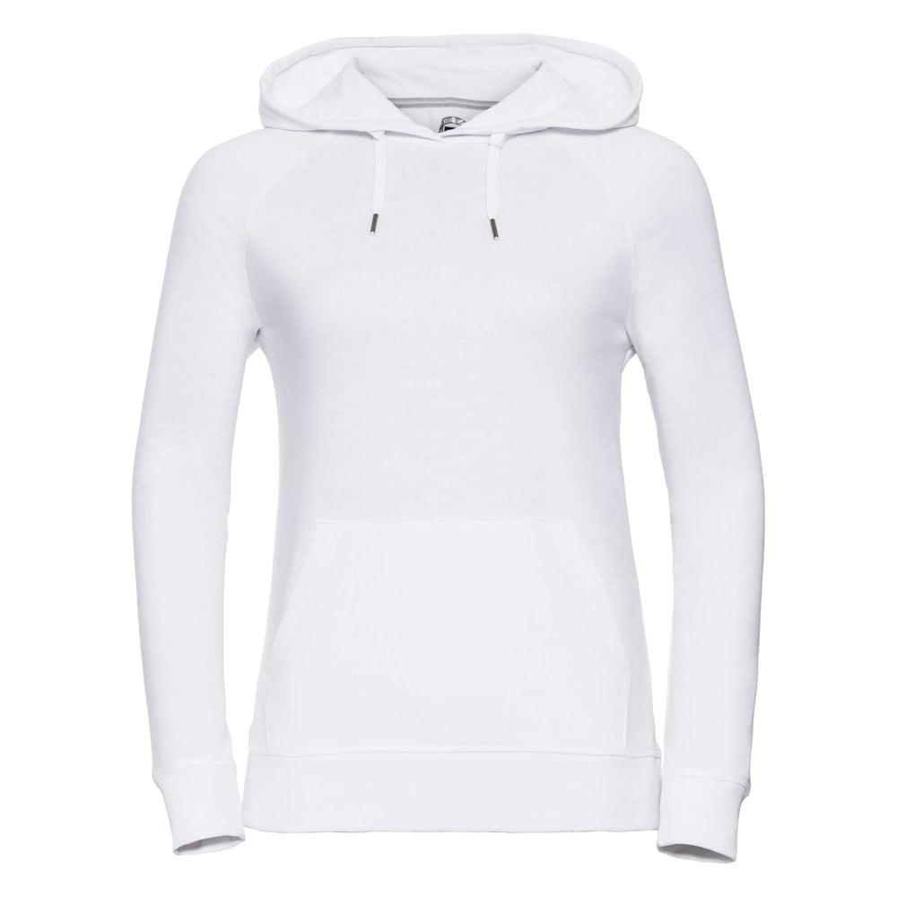 Bluzy - Damska bluza z kapturem HD -  R-281F-0 - White - RAVEN - koszulki reklamowe z nadrukiem, odzież reklamowa i gastronomiczna