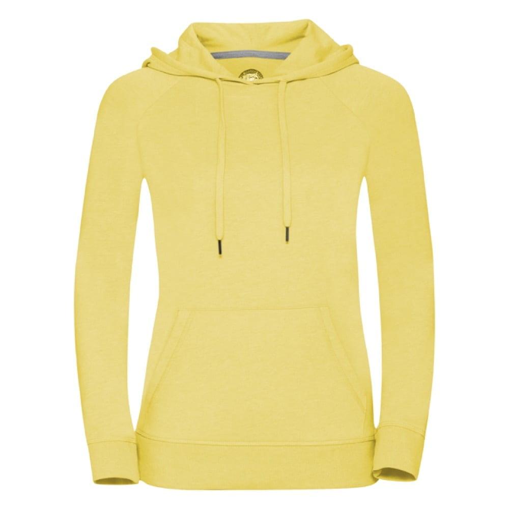 Bluzy - Damska bluza z kapturem HD -  R-281F-0 - Yellow Marl - RAVEN - koszulki reklamowe z nadrukiem, odzież reklamowa i gastronomiczna