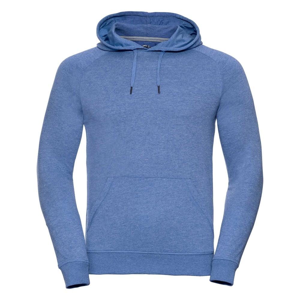 Bluzy - Męska bluza z kapturem HD - R-281M-0 - Blue Marl - RAVEN - koszulki reklamowe z nadrukiem, odzież reklamowa i gastronomiczna
