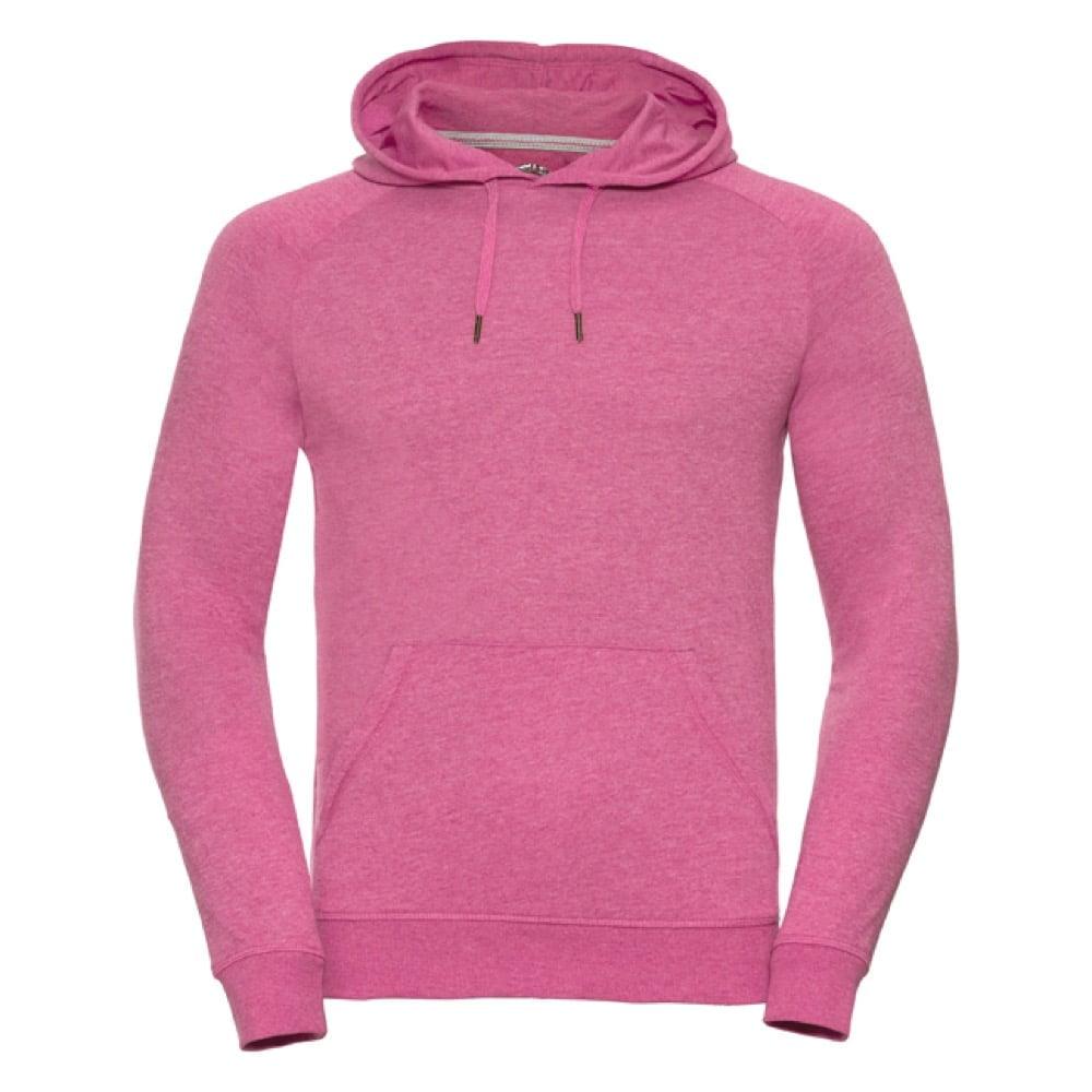 Bluzy - Męska bluza z kapturem HD - R-281M-0 - Pink Marl - RAVEN - koszulki reklamowe z nadrukiem, odzież reklamowa i gastronomiczna
