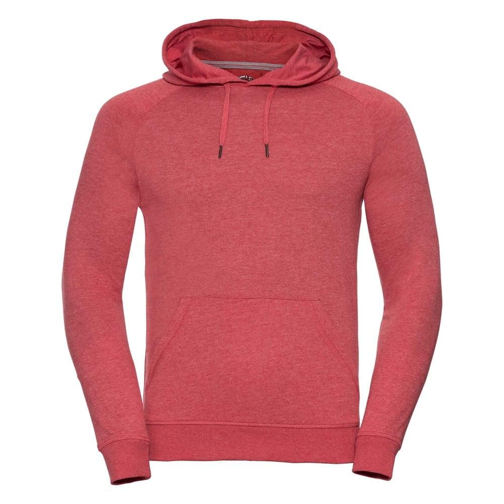 Bluzy - Męska bluza z kapturem HD - R-281M-0 - Red Marl - RAVEN - koszulki reklamowe z nadrukiem, odzież reklamowa i gastronomiczna