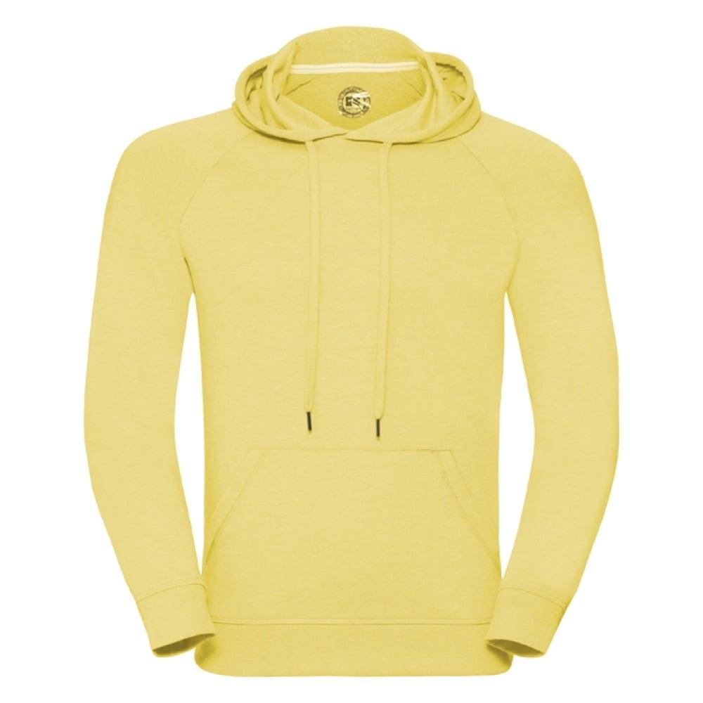 Bluzy - Męska bluza z kapturem HD - R-281M-0 - Yellow Marl - RAVEN - koszulki reklamowe z nadrukiem, odzież reklamowa i gastronomiczna